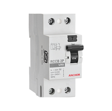 Anchor Uno 40A DP 100mA RCCB