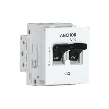 Anchor MINI Modular 12A DP MCB 'C' TYPE