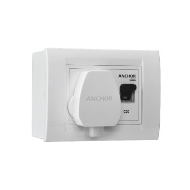 Anchor MODULAR SURFACE AC BOX WITH 20A SP MCB